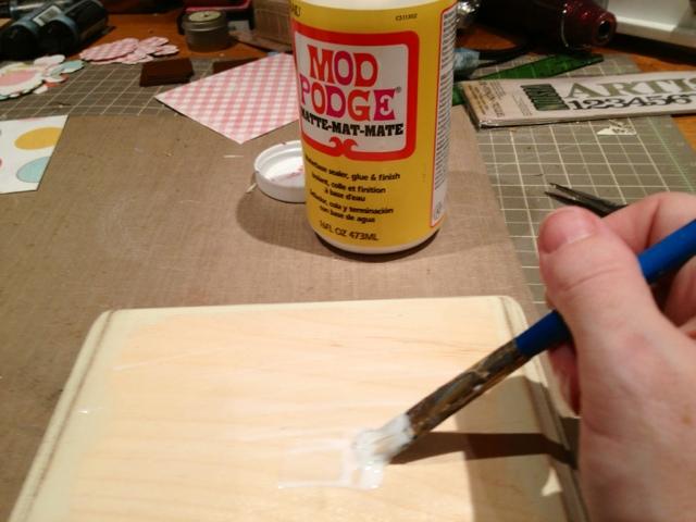 Modge Podge To Seal Acrylic Paint On Wood