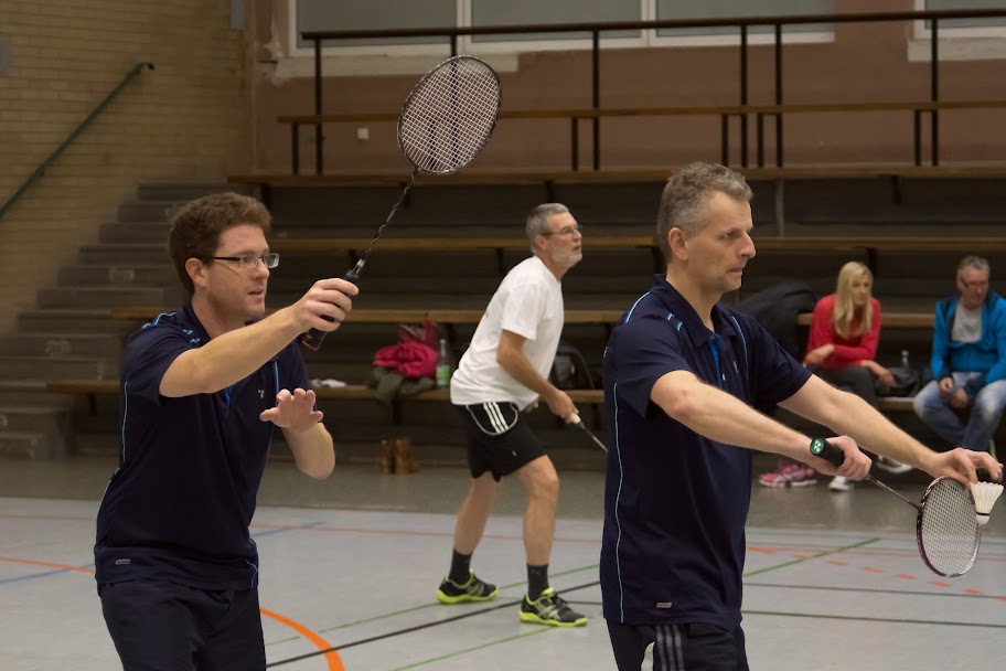 Mathias und Georg im ersten Doppel
