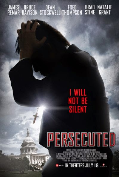 Poster Of English Movie Persecuted (2014) Free Download Full New Hollywood Movie Watch Online At Alldownloads4u.Com