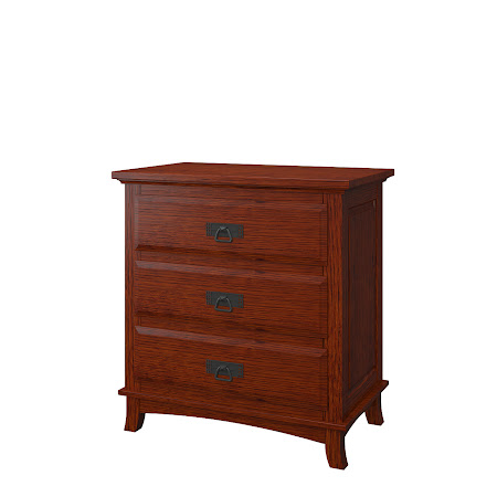 Glasgow Nightstand with Drawers, Stickley Hickory