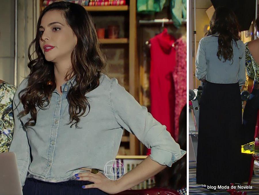 moda da novela Em Família - look da Marina dia 01 de julho