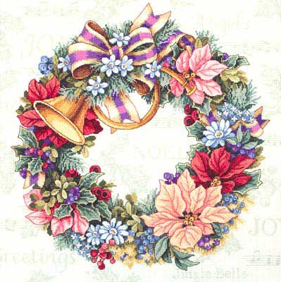 Holiday Harmony Wreath cross stitch patterncross stitch pattern
