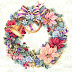 Holiday Harmony Wreath cross stitch pattern