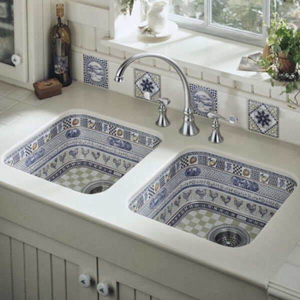 Colors of life beautiful kitchen sink design by kohler - Kohler kitchen sink colors ...