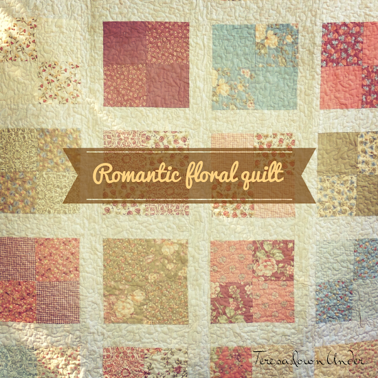 Romantic floral lap quilt free pattern: easy pattern for beginners ... : how to make a lap quilt - Adamdwight.com