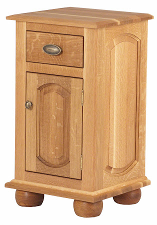 Matching Furniture Piece: Custom Valencia Nightstand with Door, Natural Quarter Sawn Oak