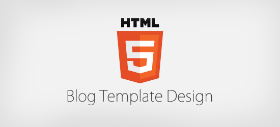 HTML5 Template Design for Blog.