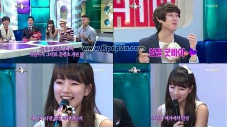Suzy (miss A) ทำร้ายจิตใจ Heechul (SJ) ใน 'Radio Star'