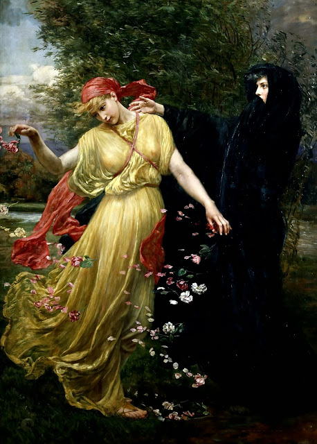 Valentine Cameron Prinsep - At the First Touch of Winter Summer Fades Away