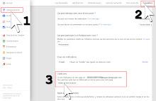 Paramètres page Google+