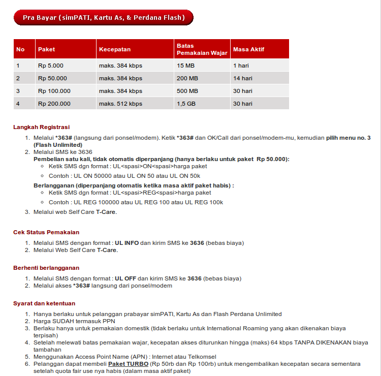 Review Telkomsel Flash Unlimited 1