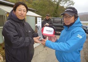 7位 田村英之選手 表彰