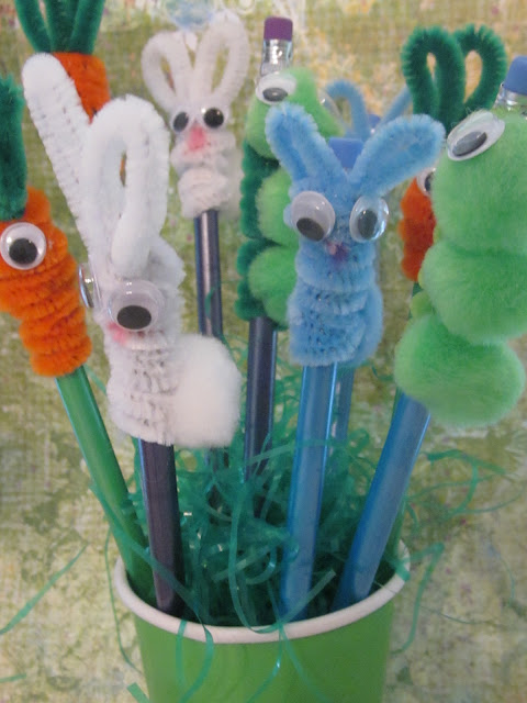kids crafts easter pencils