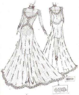 Lukisan Design Baju Pengantin Brad Erva Doce Info