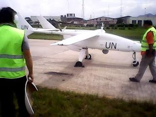 Le premier aéronef non armé et sans pilotes de la Monusco (Photo Facebook)