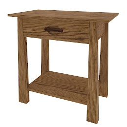 Luxor Nightstand with Shelf