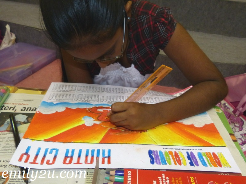children colouring activity