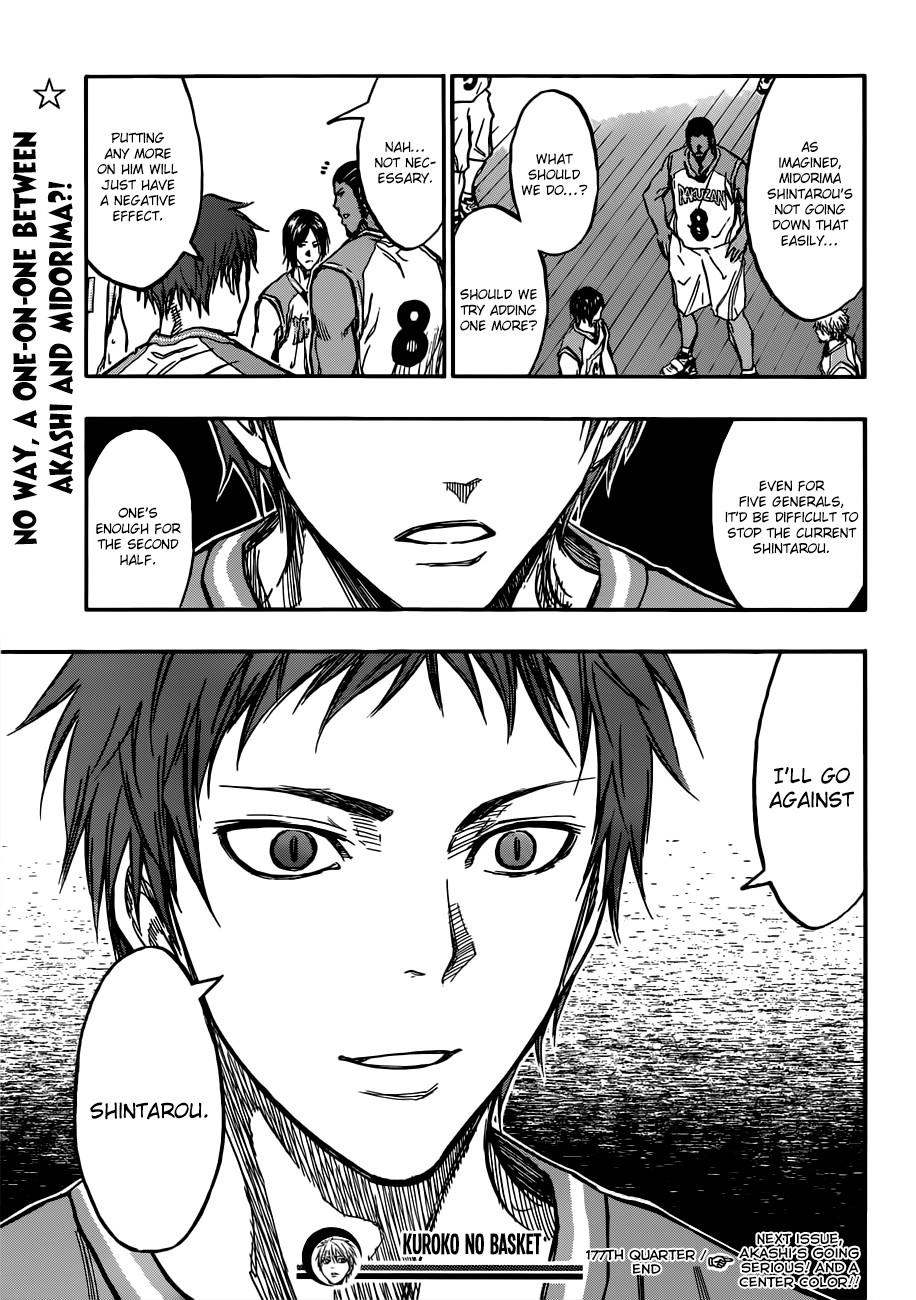 Kuroko no Basket Manga Chapter 177 - Image 19