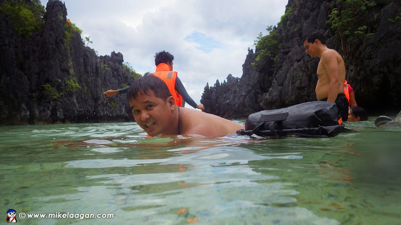 Swimming in Hidden Beach with Beyond Water Dry Bag