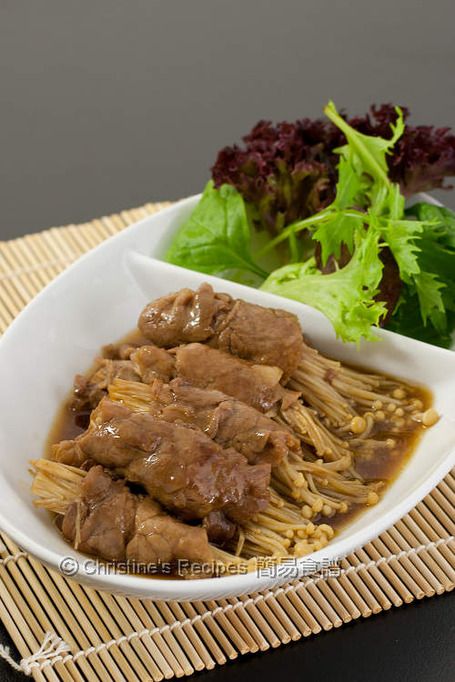 Beef and Enokitake in Teriyaki Sauce01