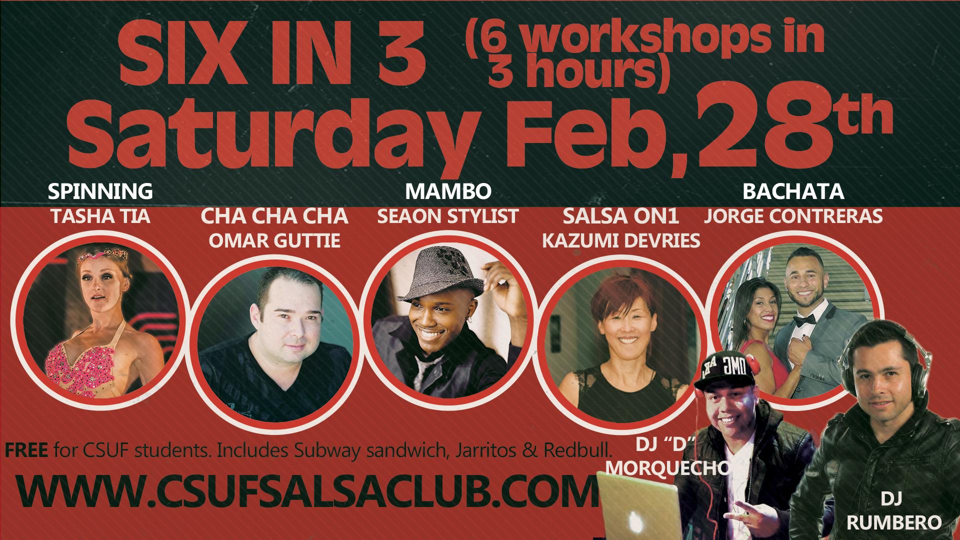 Tasha Tia, Omar Guttie, Seaon Stylist-Bristol, Kazumi DeVries, and Jorge Contreras