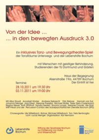Plakat zur Werkschau am 28.10.11 und 03.12.11