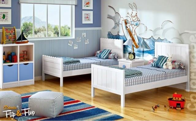 Camas individuales - Habitaciones infantiles con dos camas ...