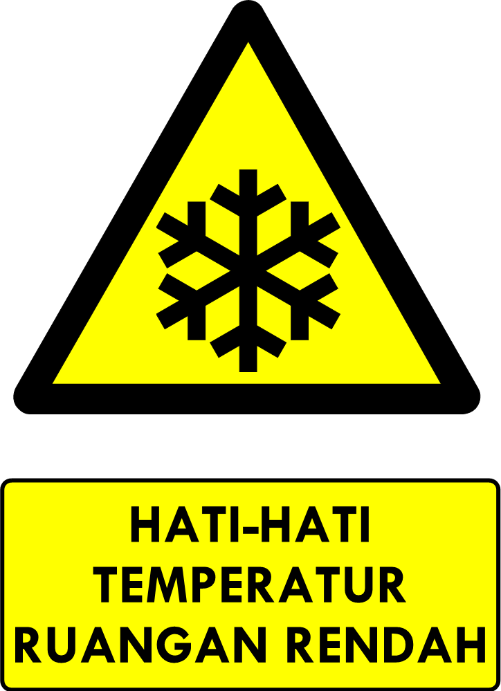Rambu Bahaya Temperatur Ruangan Rendah