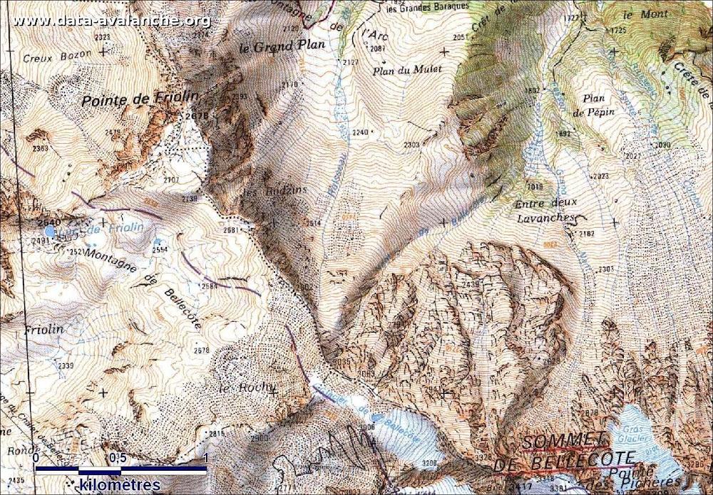 Avalanche Vanoise, secteur Sommet de Bellecôte, Petite Face Nord - Photo 1