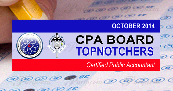 prc exam results top 10 passers october 2014 cpa board