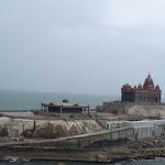 Kanyakumari, Vivekananda Memorial & Thiruvalluvar Statue, TN, INDIA, 27-Jan-2007