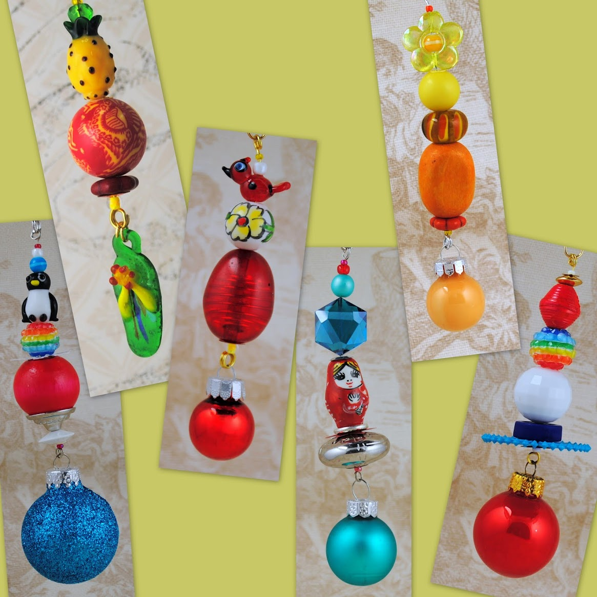 Bright Spring & Summer Themed Christmas Tree Ornaments