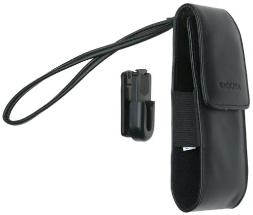 Kyocera Black Leather Case with Belt Clip for Kyocera 6035 Series Phone