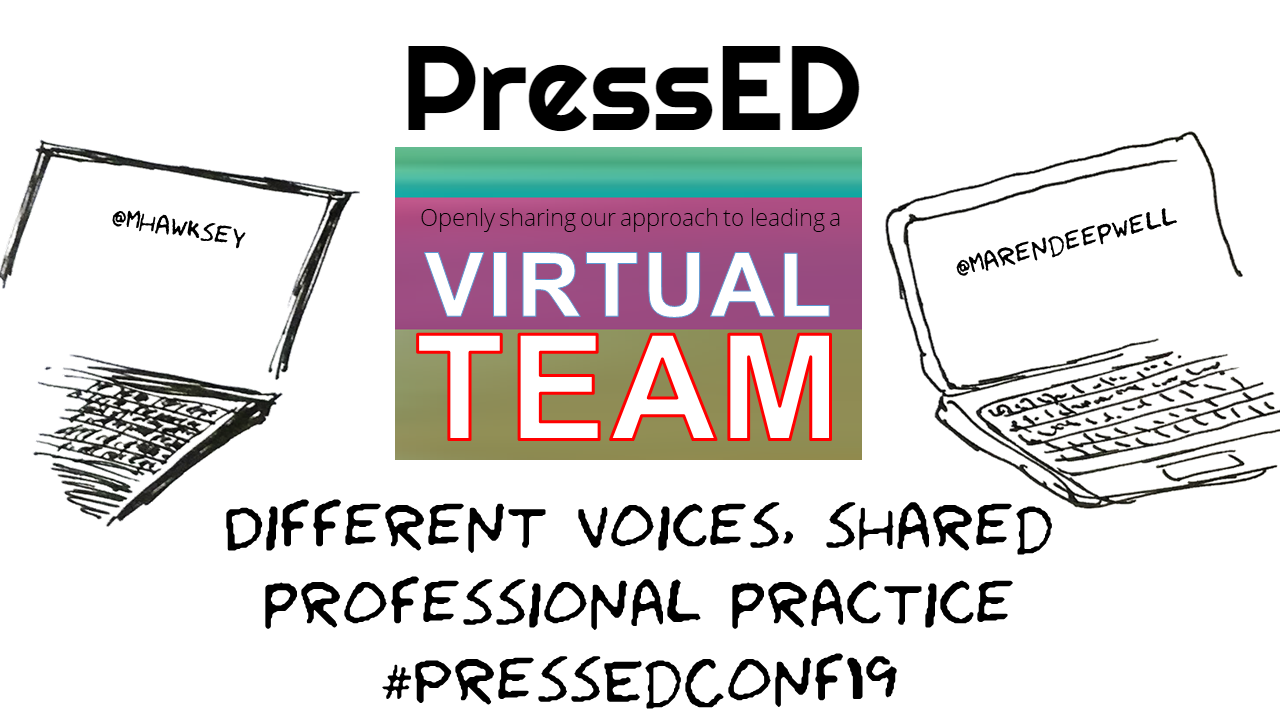 Virtual Teams: Different voices, shared professional practice #PressEdConf19
