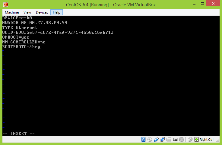 cara setting network centos