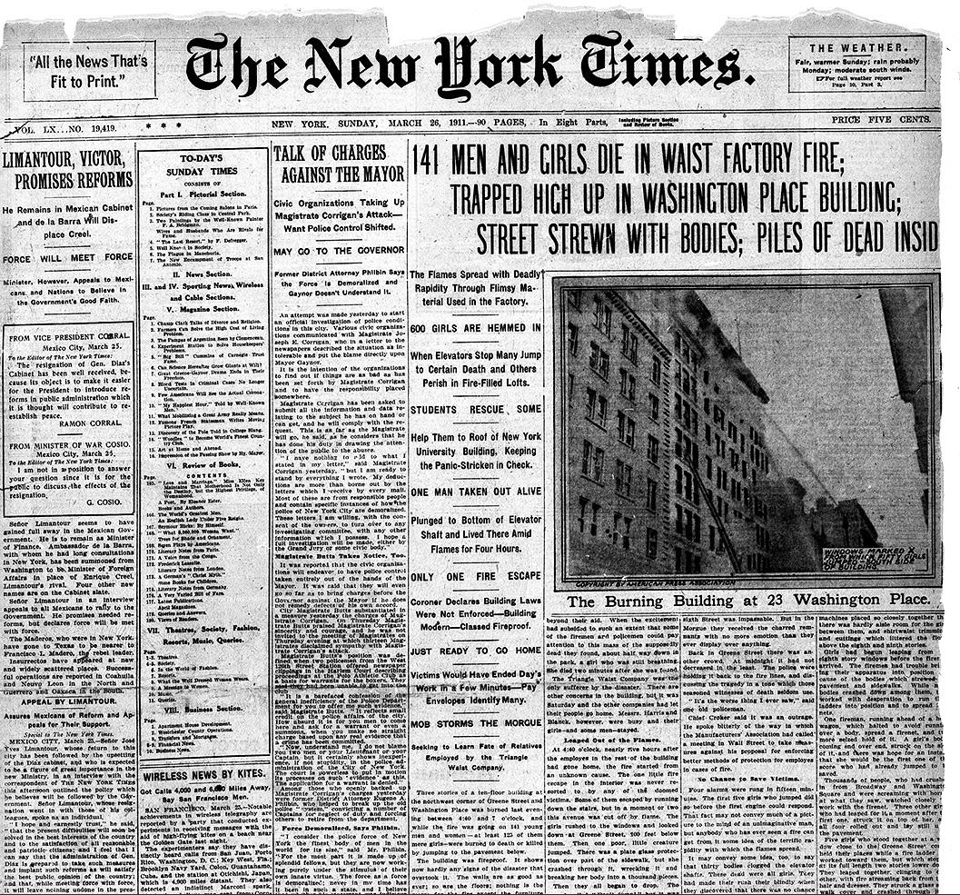 Museum at Work: Triangle Shirtwaist Factory Fire: March 25 ... Triangle Shirtwaist Fire 1912