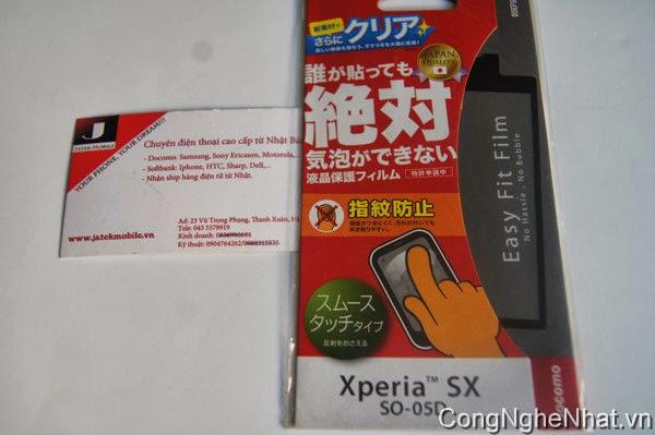 Dán màn điện thoại nhật Sony Xperia SX(SO-05D) cực mịn