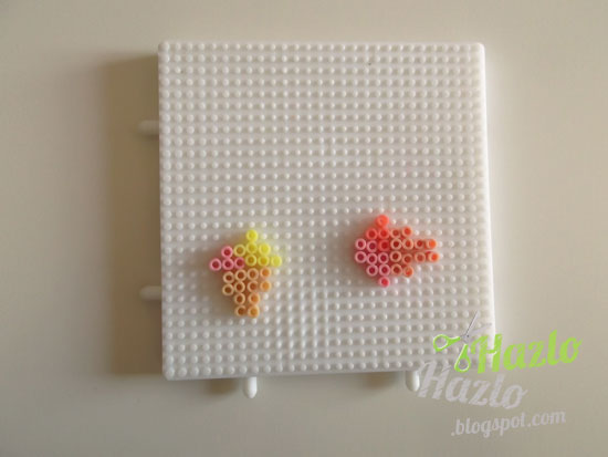 Cómo hacer cucuruchos con hama beads.
