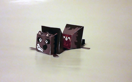 Roadkill Raccoon Paper Toy