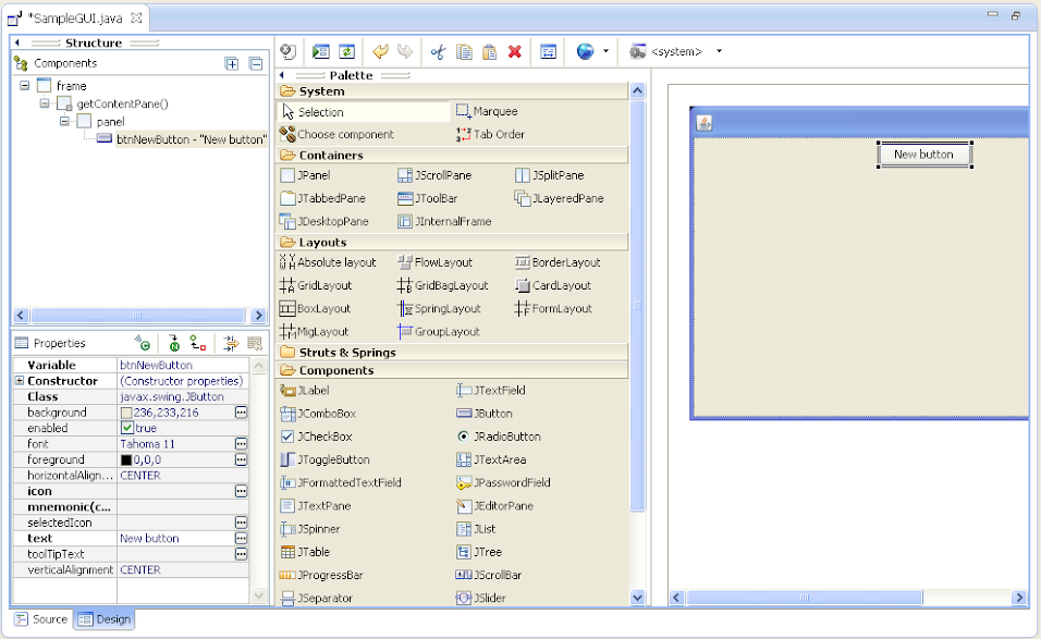 How to Create GUI with JAVA using Eclipse Editor