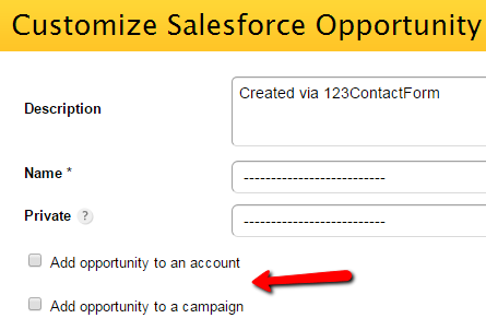123FormBuilder SalesForce Opportunity