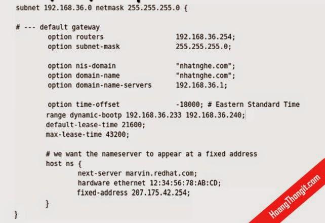 Dịch vụ DHCP trên linux