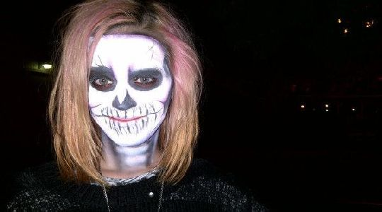 Maquillaje de halloween: Mujer CalaVera