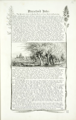 A Record of Shelford Parva by Fanny Wale P12 fo. 13, page 12: A historical description of Durnford Dale (the river near Durnford Mill), with a watercolour. It was written in 1916. [fo.12, but lacks title and within Mount F]