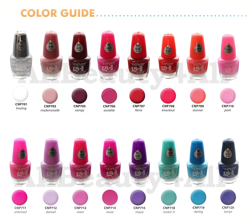 Pick 6 Colors] L.A. COLORS Gel Nail Polish Vivid & Extreme Shine No ...