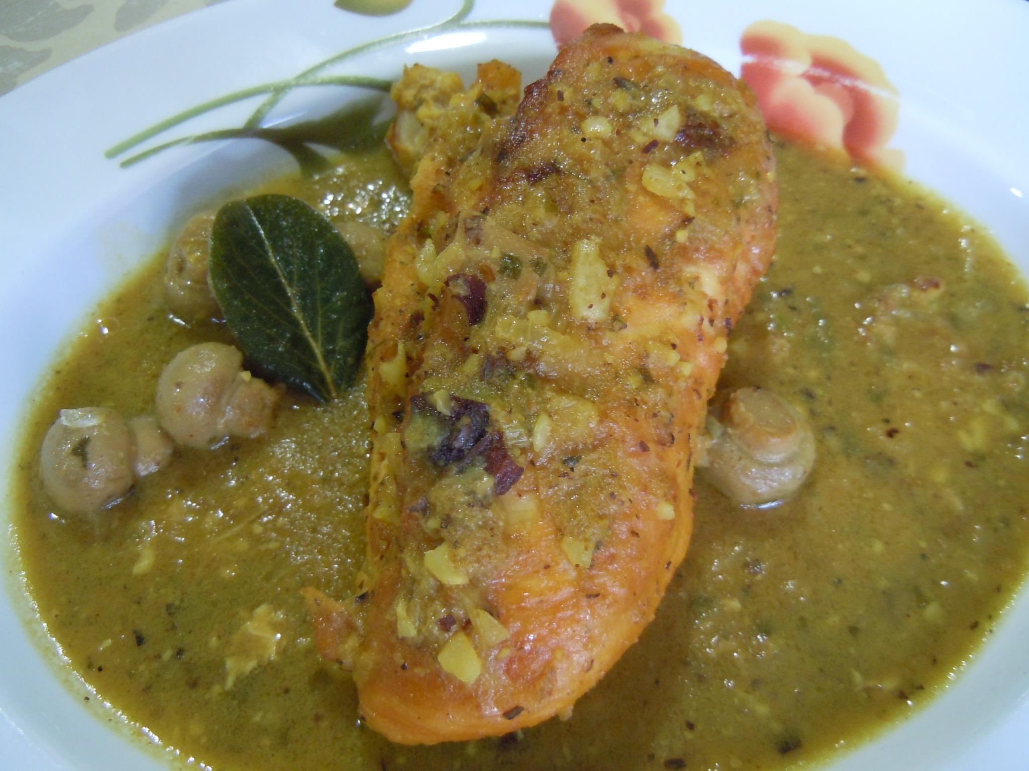 Jam n al horno con vino tinto y pi a my cooking blog - Pechuga d pollo en salsa ...