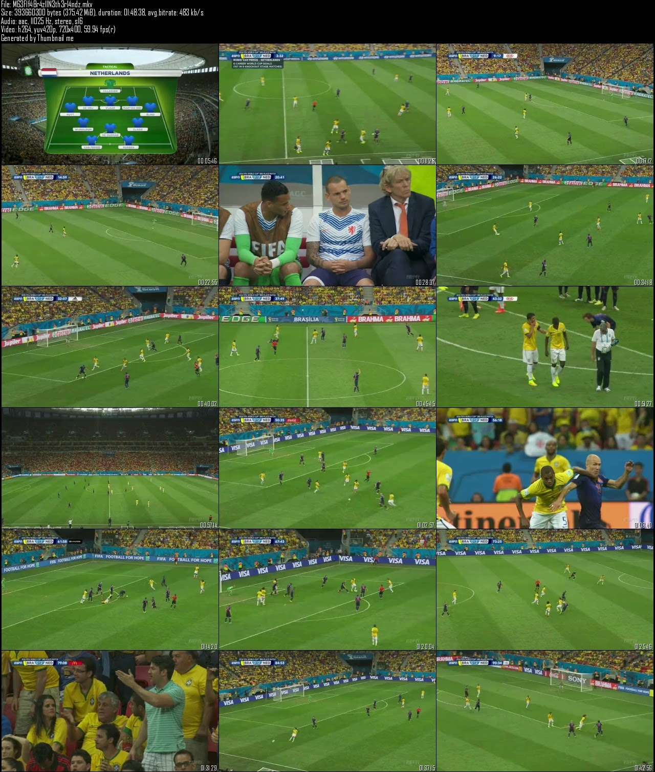 Screen Shot Of English Sports Show Fifa World Cup (2014) Brazil vs Netherlands Download And Watch Online Free at worldfree4u.com