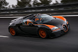 Bugatti Veyron GS Vitesse WRC - the fastest open-top car in the world. Officially!