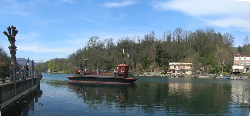 Il Traghetto di Leonardo dal lato di Imbersago