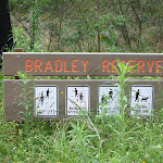 Bradley Reserve sign (24811)